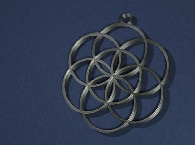Seed of Life Pendant 3d printed 3D rendering of pendant.