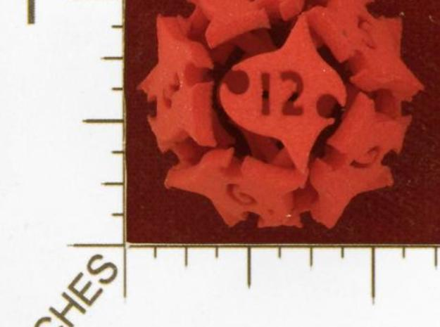 Tocrax Twelve-sided Die 3d printed Winter Red