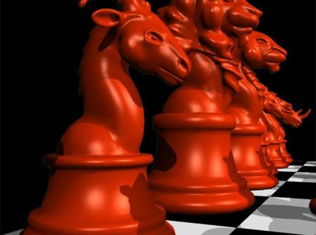 Individual Chess pieces - Animal Kingdom 3d printed Bishop - (red) render in Maya