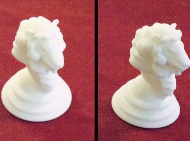Chess piece – Lion as King 3d printed Shapeways 3d print of this model