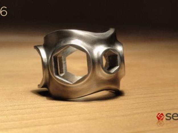 1086 ToolRing - size 10 (19,80 mm) 3d printed 1086 ToolRing - Brushed Finish A