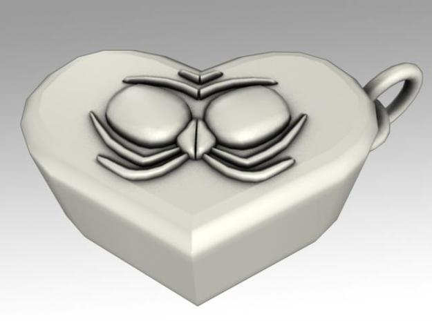 Heartbox Locket (Spider) 3d printed Back side.