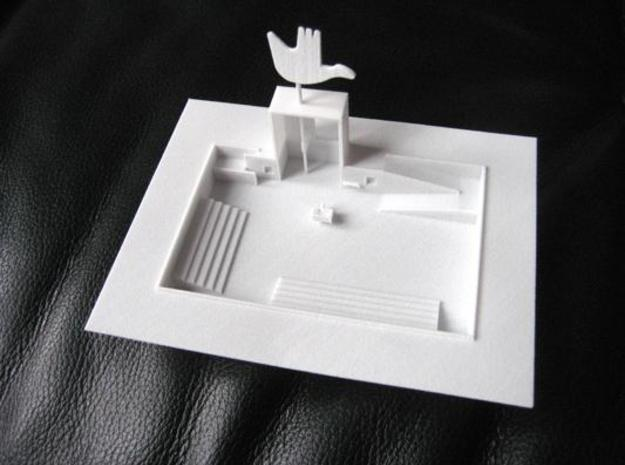 Chandigarh 3d printed Open Hand Monument Le Corbusier