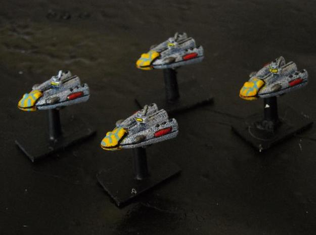 SSA103A Riposte Frigate (x4) 3d printed Painted model