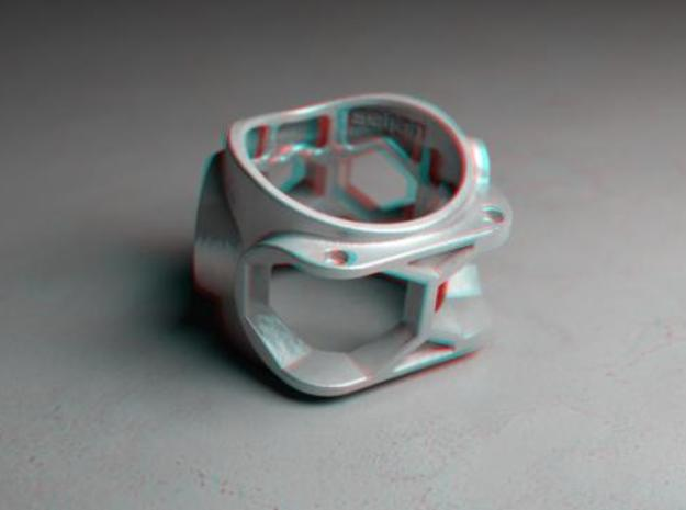 1086 ToolRing - size 8 (18,19 mm) 3d printed 1086 ToolRing - Anaglyph (back)
