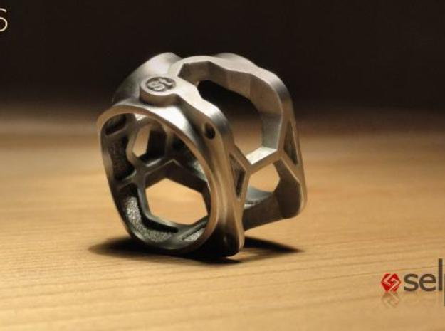 1086 ToolRing - size 7 (17,35 mm) 3d printed 1086 ToolRing - Brushed Finish C