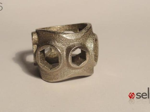 1086 ToolRing - size 11 (20,60 mm) 3d printed 1086 ToolRing - Primal Finish A