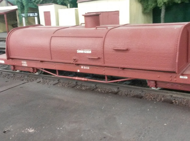 16mm scale Victorian Railways narrow gauge u/frame 3d printed styrene decked u/f with 2000 gallon tank