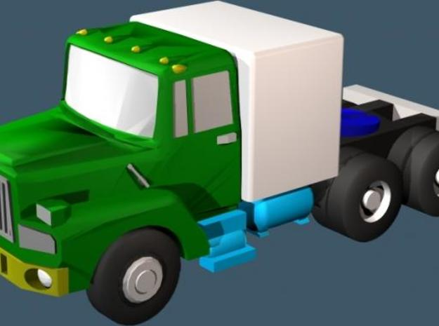 Mack Semi Truck 3 - Z scale 3d printed Color Render