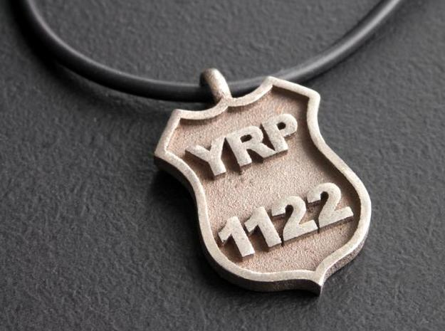 Police Badge Pendant 3d printed Photo 1