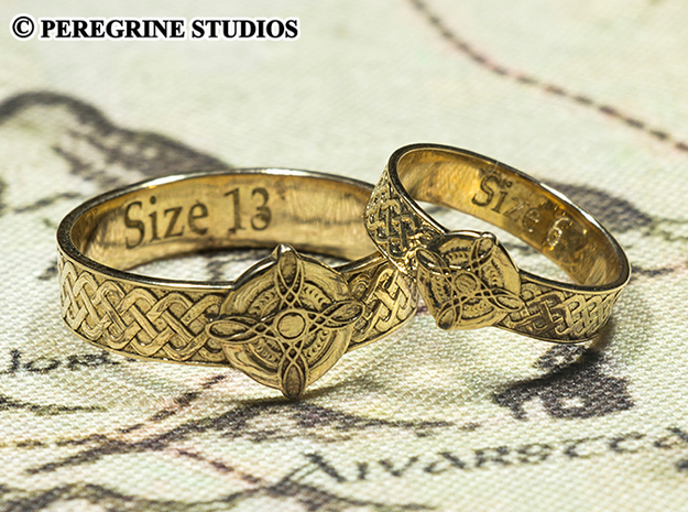 Ring - Ring of Mara (Size 13) 3d printed Polished Bronze