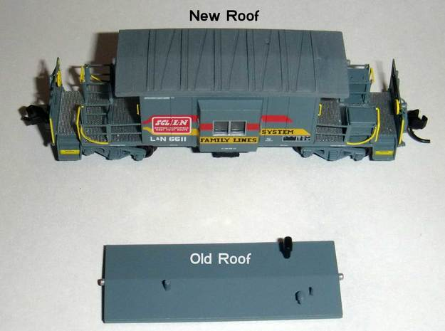N Bluford Shops Transfer Caboose Roof x2