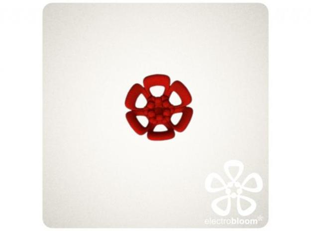 Joshua flower charm. 3d printed RED JOSHUA FLOWER CHARM