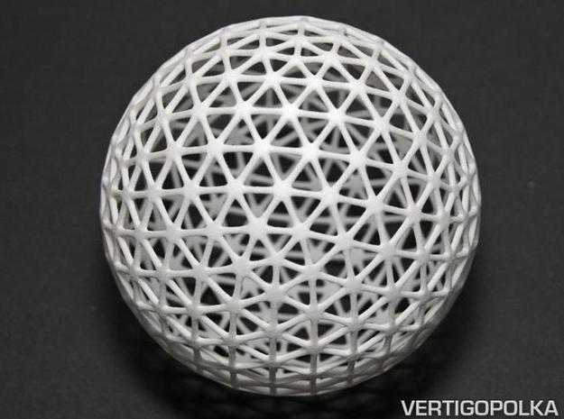 Geodesic Frame ds cc 75mm 3d printed Geodesic Frame ds cc WSF