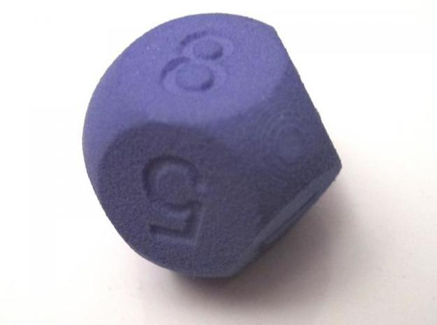 D8 Sphere Dice 3d printed Indigo Strong & Flexible