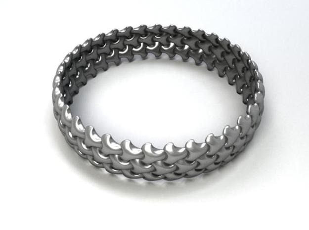 Trefoil Bangle 3d printed Description