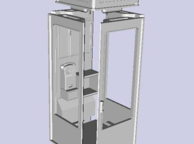 K8 Telephone Box - OO (1:76) scale 3d printed Quickrender