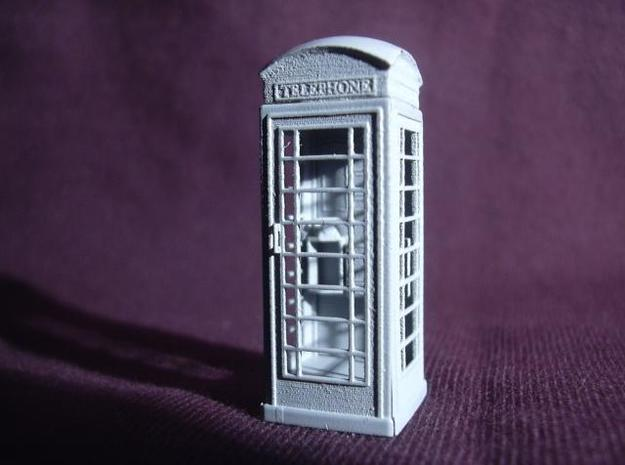 K6 Telephone Box (kiosk) - OO scale (1:76) 3d printed Photo - primed model - ready for painting