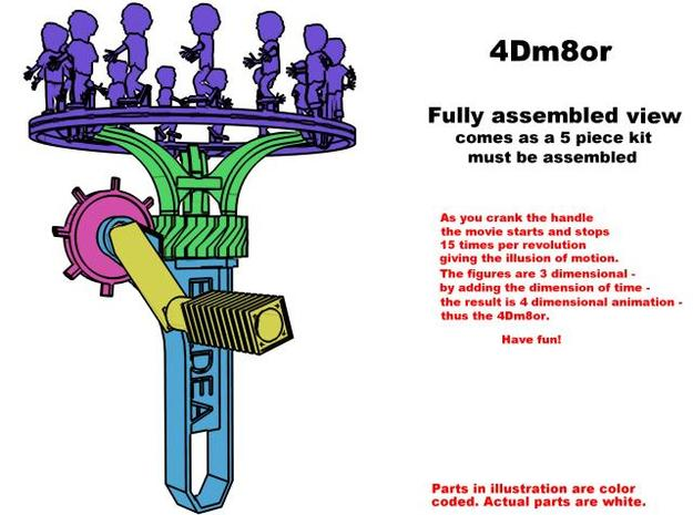 4Dm8or Mini 3d printed Description