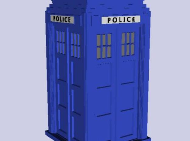 Police Signal (telephone) Box - OO (1:76) scale 3d printed Quick render