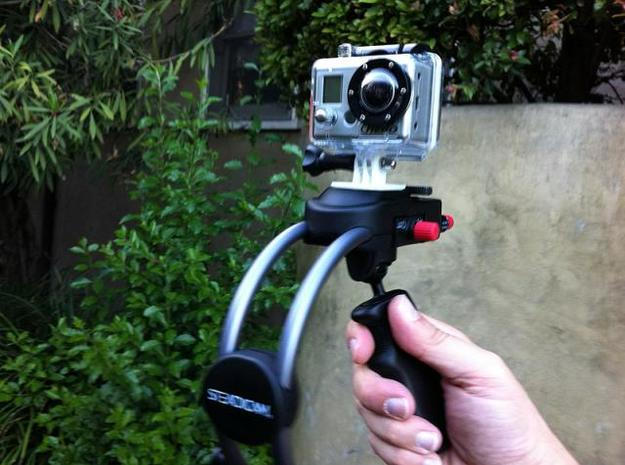 GoPro bracket for SteadiCam Smoothee 3d printed GoPro on SteadiCam Smoothee - Prototype 1 - the final is much sturdier.