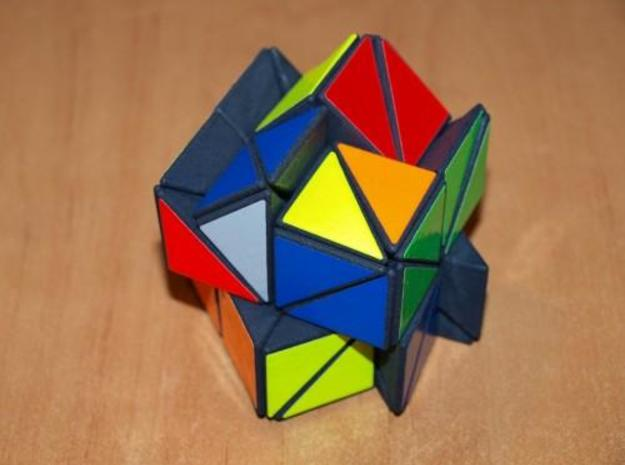 48 Cube 3d printed Totally scrambled