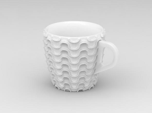 one cup a day | Day 22: Waves Cup 3d printed view