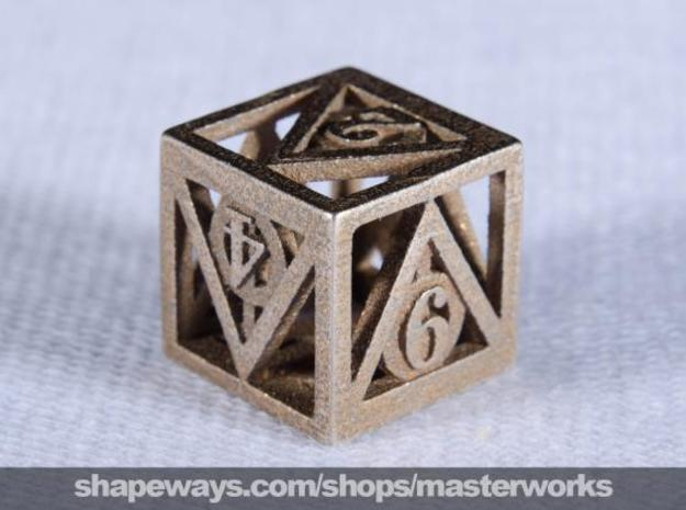 Deathly Hallows d6 3d printed Stainless Steel