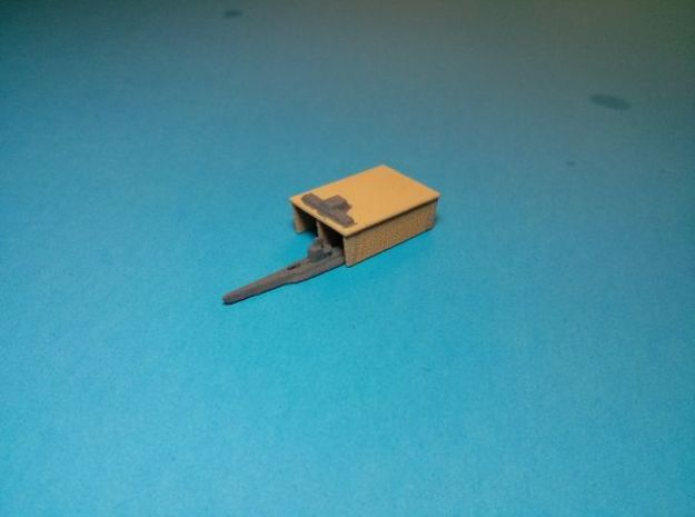 Fortified sub pen x4 3d printed Painted with my Type VII sub partially inside. Models sold unpainted.