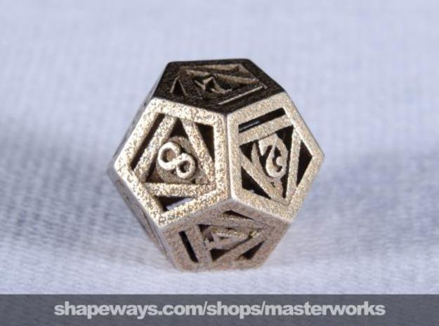 Deathly Hallows d12 3d printed Stainless Steel