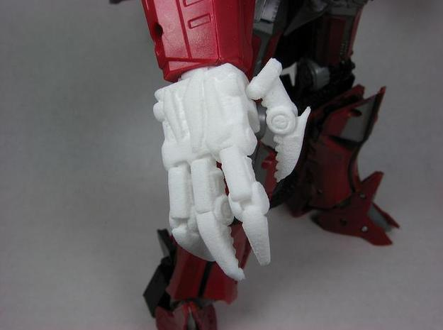 Evil hands for DOTM leader Sentinel Prime 3d printed Top view.