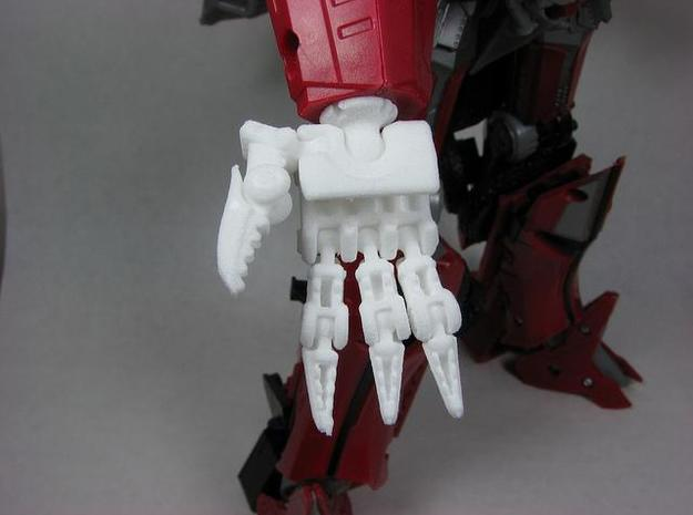 Evil hands for DOTM leader Sentinel Prime 3d printed Palm view.