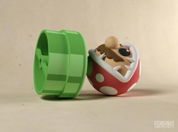 Game Over Mario 3d printed Mario eaten by Piranha plant gadget image B