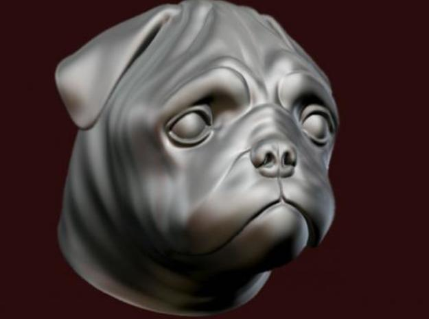Pug Hood Ornament 3d printed Description