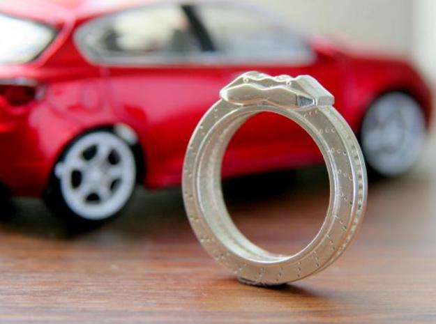 Disc brake Ring 3d printed This material is Polished Silver