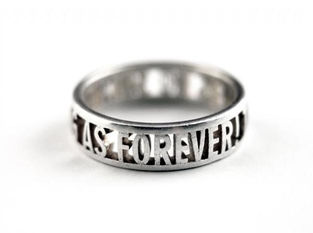 no such thing... ring (various sizes) 3d printed Silver Glossy