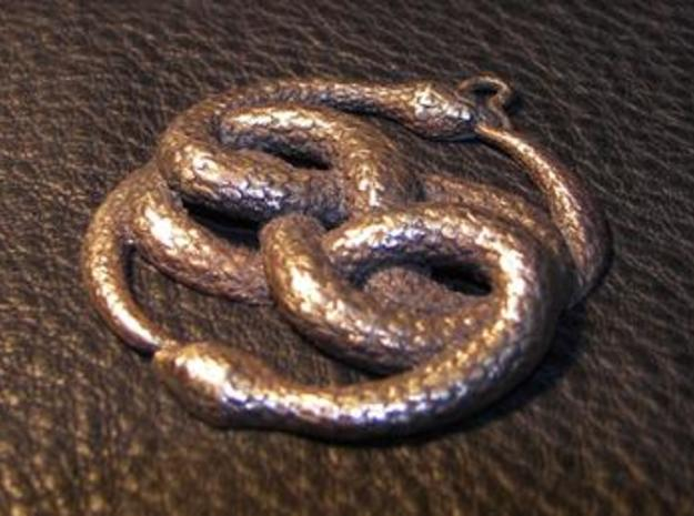 THE NEVERENDING STORY THE AURYN MEDALLION PENDANT 3d printed Antique Bronze Glossy Material