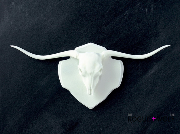 The Longhorn Mini Faux Taxidermy 3d printed