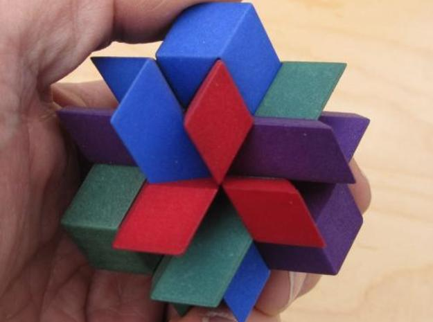 12 Piece Separation 3d printed Assembled puzzle, showing size.