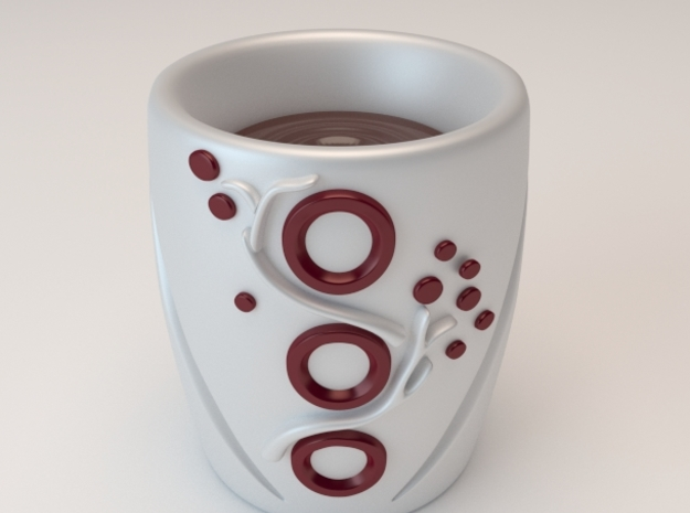 Patterned Mug 1 3d printed