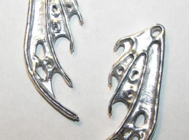 Dragon Wing Earrings 3d printed