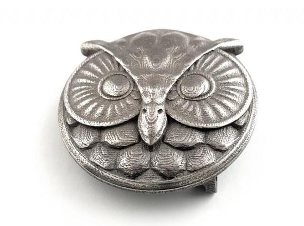 Owl Buckle (ready to use) 3d printed Stainless Steel