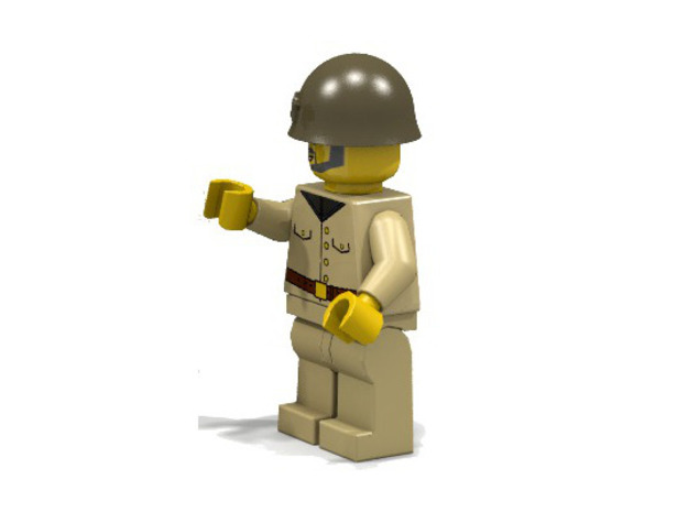 Japanese Army 3d printed Japanese (Render of an example Usage)