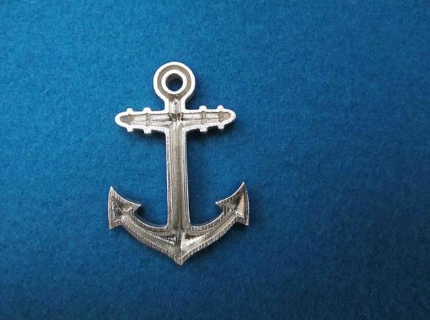 Anchor Classic 3d printed back picture: printed in silver