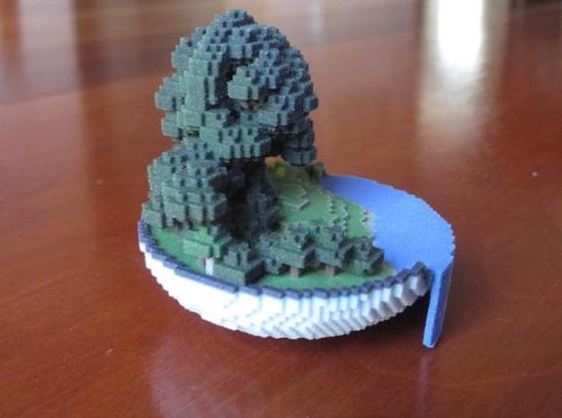 Small World in a Bowl 3d printed side