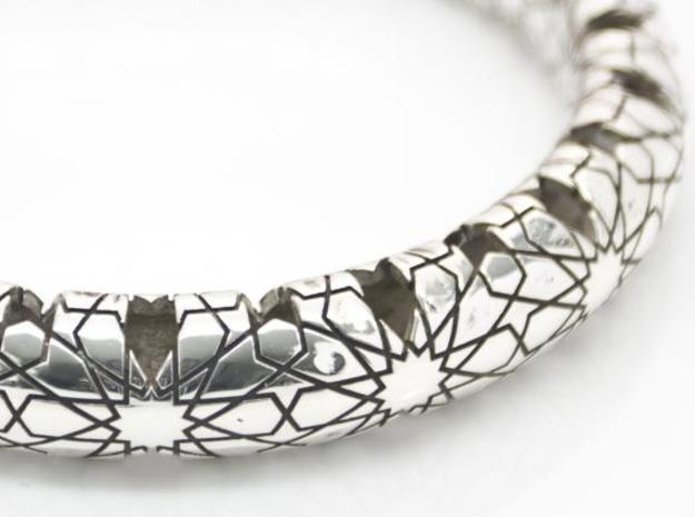 Beraldo Bangle - Silver 3d printed