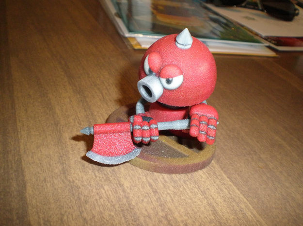 Axe Robot Red 3d printed Please note I have brightened the textures and enlarged the model since I printed this one.