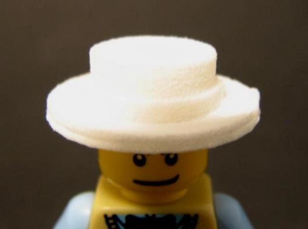 Straw Hat/ Boater Hat 3d printed