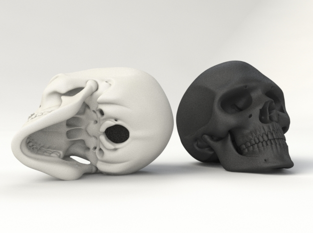 Realistic Human Skull (40mm H) 3d printed RENDER PREVIEW