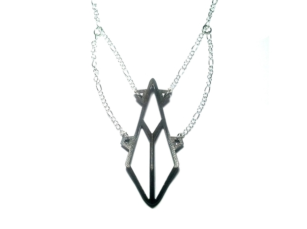 Sacred Necklace 3d printed Matte Black Steel